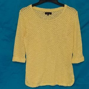 New Look yellow sweater sz 14